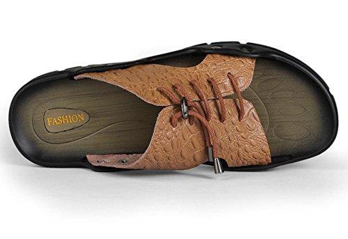 sandalias y zapatillas sandalias de cuero de los hombres de verano personalizados encaje de la moda 2