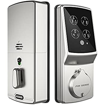 Itouchless Stainless Steel Bio Matic Fingerprint Deadbolt