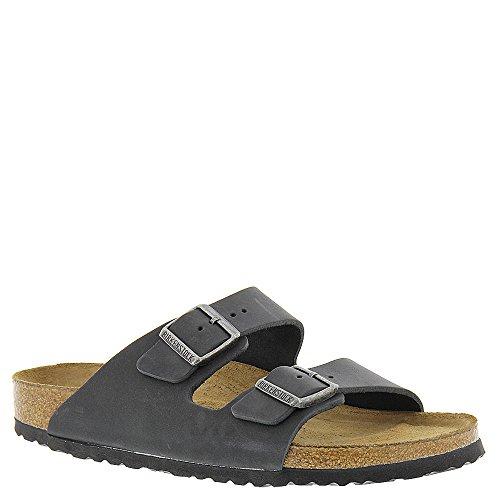 77a919b07816 Galleon - Birkenstock Unisex Arizona Black Oiled Leather Sandals - 5-5.5 2A( N) US Women