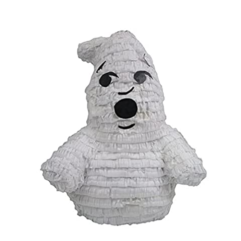 Friendly Ghost Pinata, Party Game, 3D Centerpiece Decoration and Photo Prop for Halloween or Ghostbusters (Ghost Busters 12 Inch)
