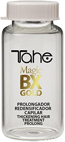 Tahe Magic BX Gold Tratamiento Capilar Redensificador Hidratante Efecto Botox de Larga Duración, Caja de 5 Ampollas 10 ml. Brillo Infinito, Melena Densa, Suavidad Extrema: Amazon.es: Belleza