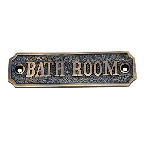 Amazon.com: Adonai hardware – cartel para puerta de baño ...