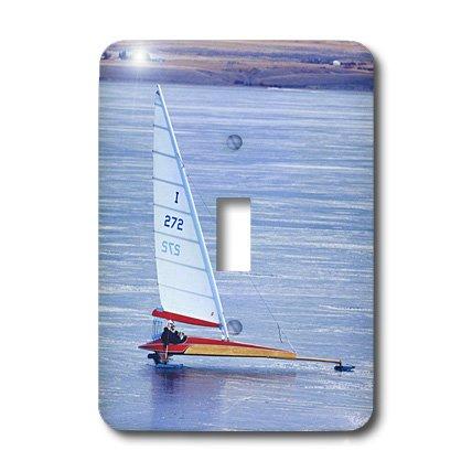 3dRose lsp_91860_1 hielo navegación a vela, barca y lago del cañón, Townsend Montana Us27 Cha1807 Chuck Haney interruptor...