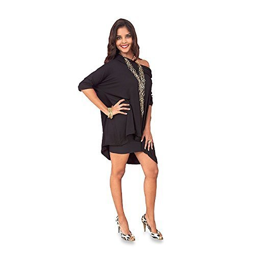 (Suzanne Somers 3 Way Poncho AS SEEN ON TV Can be worn three ways (XL - 3X) Black color)