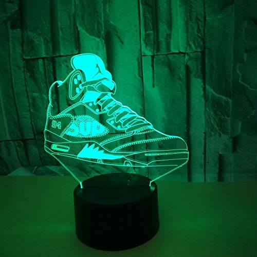 2125 Usb - Xiujie Creative Colorful Sports Shoe USB 3D Night Lights Led Bedroom Office Home Decor Desk Table Lamp for Sports Fans Gift