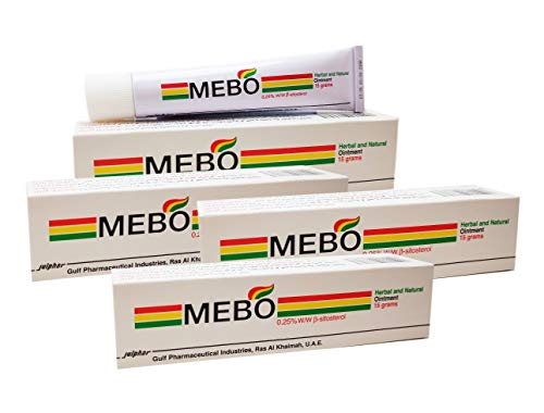 MEBO Burn Fast Relief Pain Cream Skin Healing Ointment Wound & Scar No Marks Care Fast First Aid Health Beauty Care (4 Tubes = 60 grams)