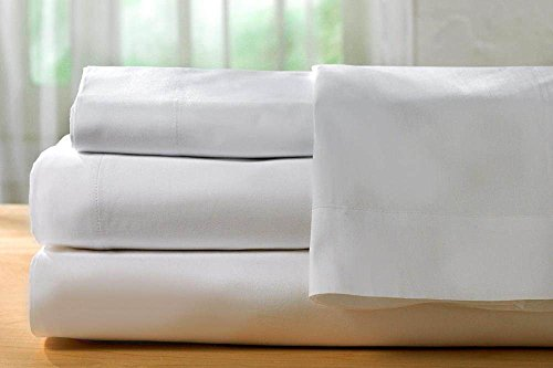 Ultra Soft & Exquisitely Smooth Exclusive 100% Plush Cotton 1000 TC Sheet Set by Casa, Lavish Italian Solid fits mattresses up to 24