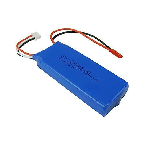 Qsmily Original 7.4V 1600MAH Lipo Battery for Wltoys V323 RC Quadcopter (1600 Mah Battery Rc)