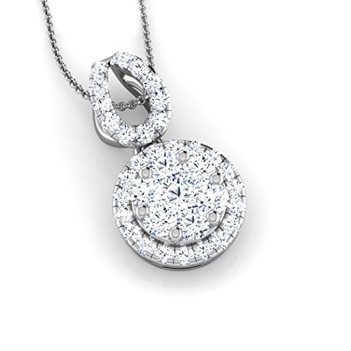 Or jaune 18K 0,42CT TW Round-cut-diamond (IJ | SI) Pendentif