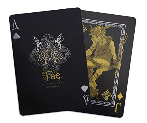 Creatures of The FAE Playing Cards by Gent Supply - Black, Gold & Silver Edition