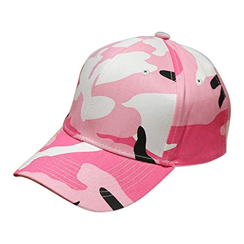 Sunshinehomely Men Women Camouflage Cotton Adjustable Low Profile Baseball Cap Dad Hat (Pink) ()