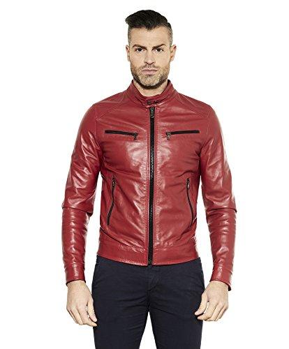 Piel Bolsillos Quattro nbsp;chaqueta Roja nbsp;– De D 'arienzo nbsp;hamilton Rojo nbsp;– HzZYW4qw