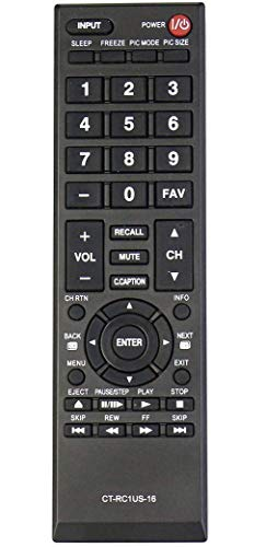 New CT-RC1US-16 Remote Control Replacement for Toshiba TV 28L110U 32L110U 32L220U 40L310U 43L310U 43L420U 49L310U 49L420U 55L310U 65L350U 19AV600 19C100U 24L4200 26C10