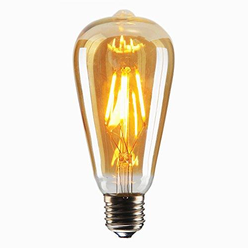 T10 E26 E27 4w Led Vintage Antique Filament Light Bulb: Dimmable Vintage Edison LED Bulb, 4W 40W ST64 Antique LED