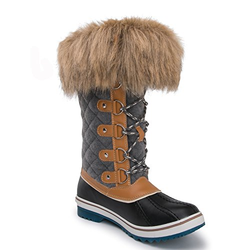 Kingshow Womens Globalwin Waterdichte Winterlaarzen 1707wheat / Grey