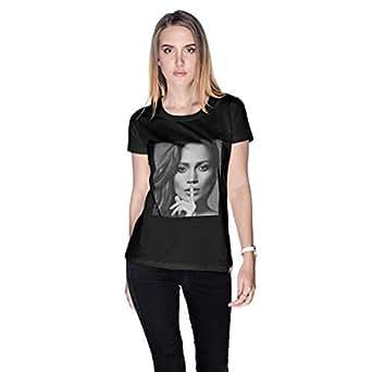 Creo Jennifer Lopez T-Shirt For Women - L, Black
