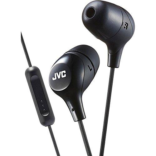 JVC HAFX38MB BLACK Marshmallow In-Ear headphones w/Remote/Mi