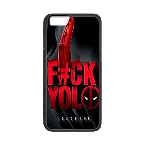 iPhone 6 6S 4.7 Inch funda Negro [KHOAOKOFH9354] CUSTOM Deadpool tema iPhone 6 6S 4.7 Inch funda