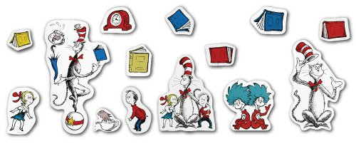 Eureka Dr. Seuss The Cat in The Hat Large Bulletin Board Set and Classroom Decorations for Teachers, 15 pcs]()