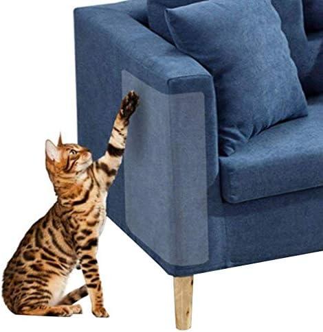 4 Piezas de protección contra arañazos de Gatos, Flexible y Transparente, sin Pernos