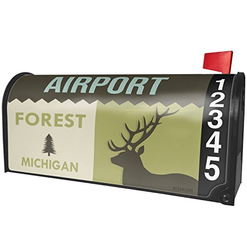 NEONBLOND National US Forest Airport Forest Magnetic Mailbox Cover Custom Numbers