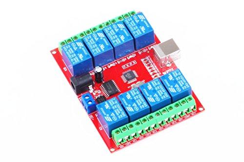 KNACRO SRD-05VDC-SL-C 8-way 5V Relay Module Free driver USB control switch PC intelligent control (5V 8-Channel) by KNACRO (Image #4)