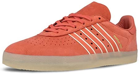 adidas Men Oyster Holdings 350 Red Trace Scarlet Chalk White Metallic Gold Size 8.0 US