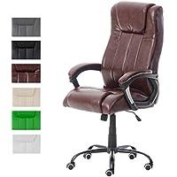 CLP Fauteuil de Bureau Ergonomique Matador - Rembourré Revêtement en Similicuir Accoudoir - Chaise de Bureau à Roulette Réglable en Hauteur - Charge Max 150 Kg Couleur :