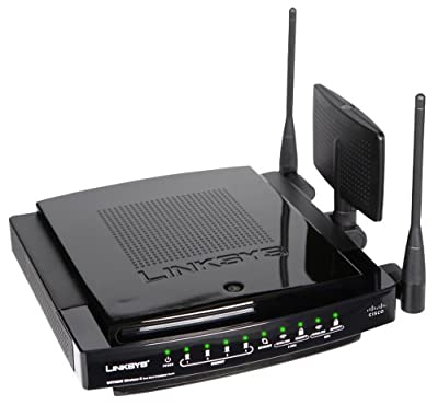 Cisco-Linksys WRT600N Linksys Ultra RangePlus Dual-Band Wireless-N Gigabit Router with Storage Link