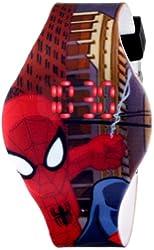 Marvel Ultimate Spider-Man  Kids' SPD1432 Digital Display Analog Quartz Brown Watch