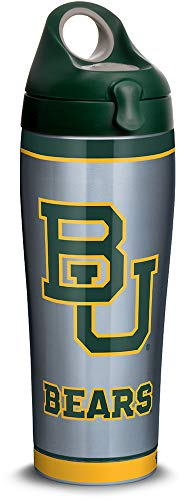 Bears Baylor Bottle - Tervis 1314042 Baylor Bears Tradition Stainless Steel Insulated Tumbler with Lid, 24oz Water Bottle, Silver