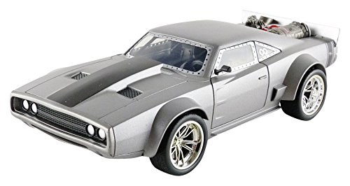 Jada Toys Fast & Furious 8 Doms Ice Charger Diecast Collectible Toy Vehicle/Car, Silver