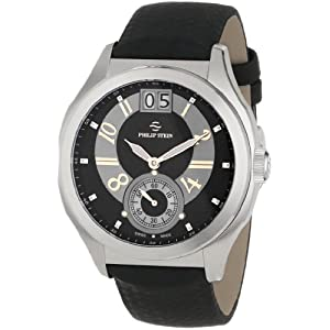Philip Stein Men's 16-HRGB-MMB Prestige Black and Rose Gold Dial Black Matte Max Strap Watch