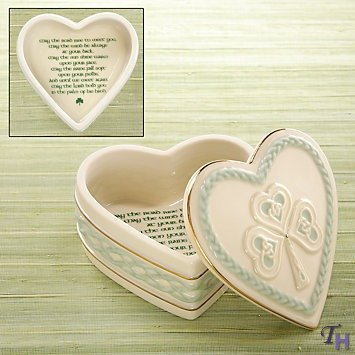 Irish Blessing Heart Keepsake Box by Lenox