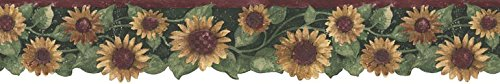 (Sunflowers Wallpaper Border B75416)