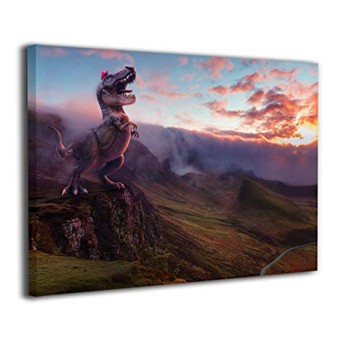Little Monster Super Mario Odyssey Dinosaur Framed and Stretched Printed On Canvas Home Decorations Modern Artwork Art for Childrens Bedroom for $<!--$33.25-->