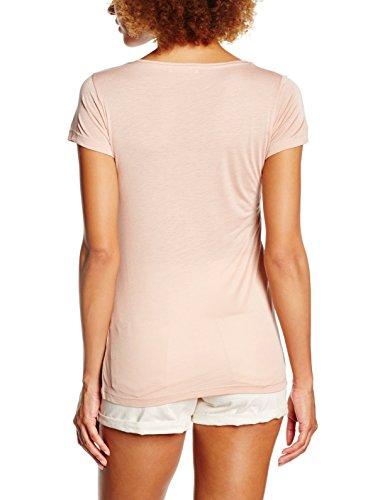 PIECES Pcbella V-Neck Tee, T-Shirt Donna Rosa (Misty Rose)
