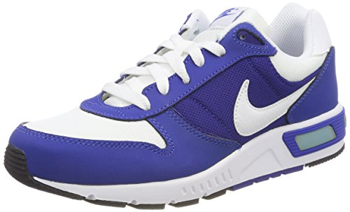 Nike Nightgazer (gs) - Running Shoes, Man, Color White (White/White-Game Royal-deep Royal Bluee), Size 40