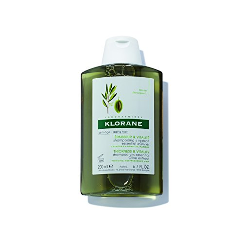 Klorane Shampoo with Olive Extract, for Thicker and Stronger Hair, Paraben and SLS Free