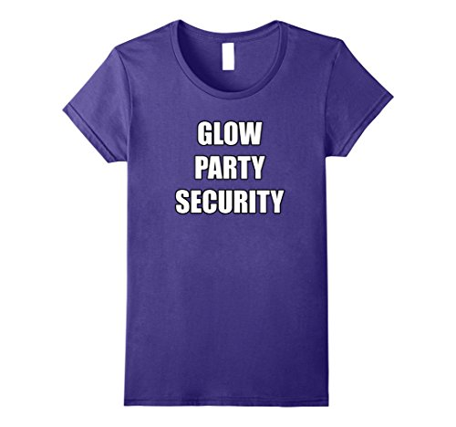 Womens Glow Party Security Shirt for Staff Disco Bar Theme Party XL (Glow Stick Halloween Costume Ideas)