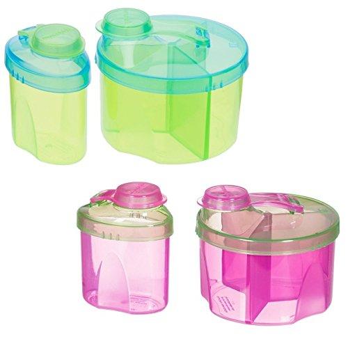 Munchkin Formula Dispenser Combo Pack, Green/Pink - 2 Sets
