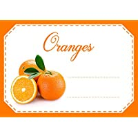 Mon Bio Jardin Lot de 30 étiquettes autocollantes oranges pour confiture, compote, conserves maison