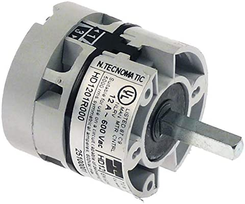 Conmutador unipolar alcance contactos 12 A 250 V – máx. 60/75 °C perno cuadrado 5 x 5 elfamo Komel Repaas ascaso Gev artículo en chisko it: 654983: Amazon.es: Grandes electrodomésticos