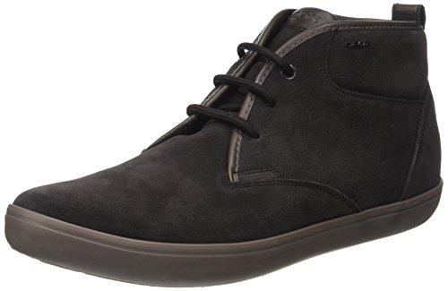 Hommes Geox U Bo?te H Brun Haute Sneaker (caf