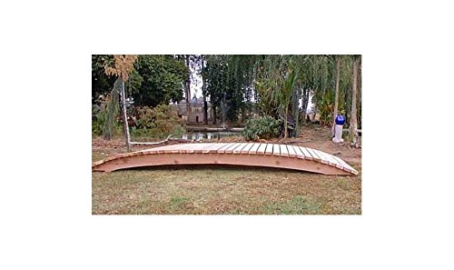 - 12 ft. Span Garden Bridge Hand Crafted in Solid Redwood (12 ft. No Post Sealed Bridge)