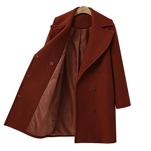 FELZ Abrigos Mujer Invierno Abrigo, Abrigo de Lana de Gran tamaño Abrigo Largo de Lana Cortaviento para Mujer: Amazon.es: Ropa y accesorios