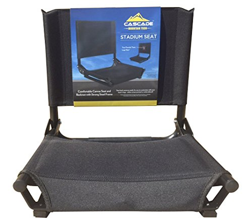 Cascade Mountain Tech Portable Folding Steel Stadium Seats for Bleachers - ()