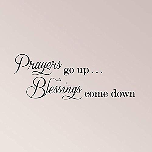 Profit Decal for Bedroom Prayers Go Up Blessings Come Down Design Decorations Wall Decals Decor Vinyl Sticker Q4886