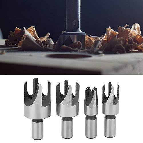 Kohlenstoffstahlbohrer, Korkbohrer Kohlenstoffstahlklauen-Holzbearbeitungswerkzeug Hardware-Zubehör für Rundholz (4PCs)