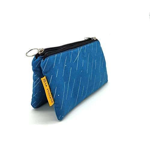 Monedero de tela azul, Monedero de tela LLuvia de Meteoritos ...